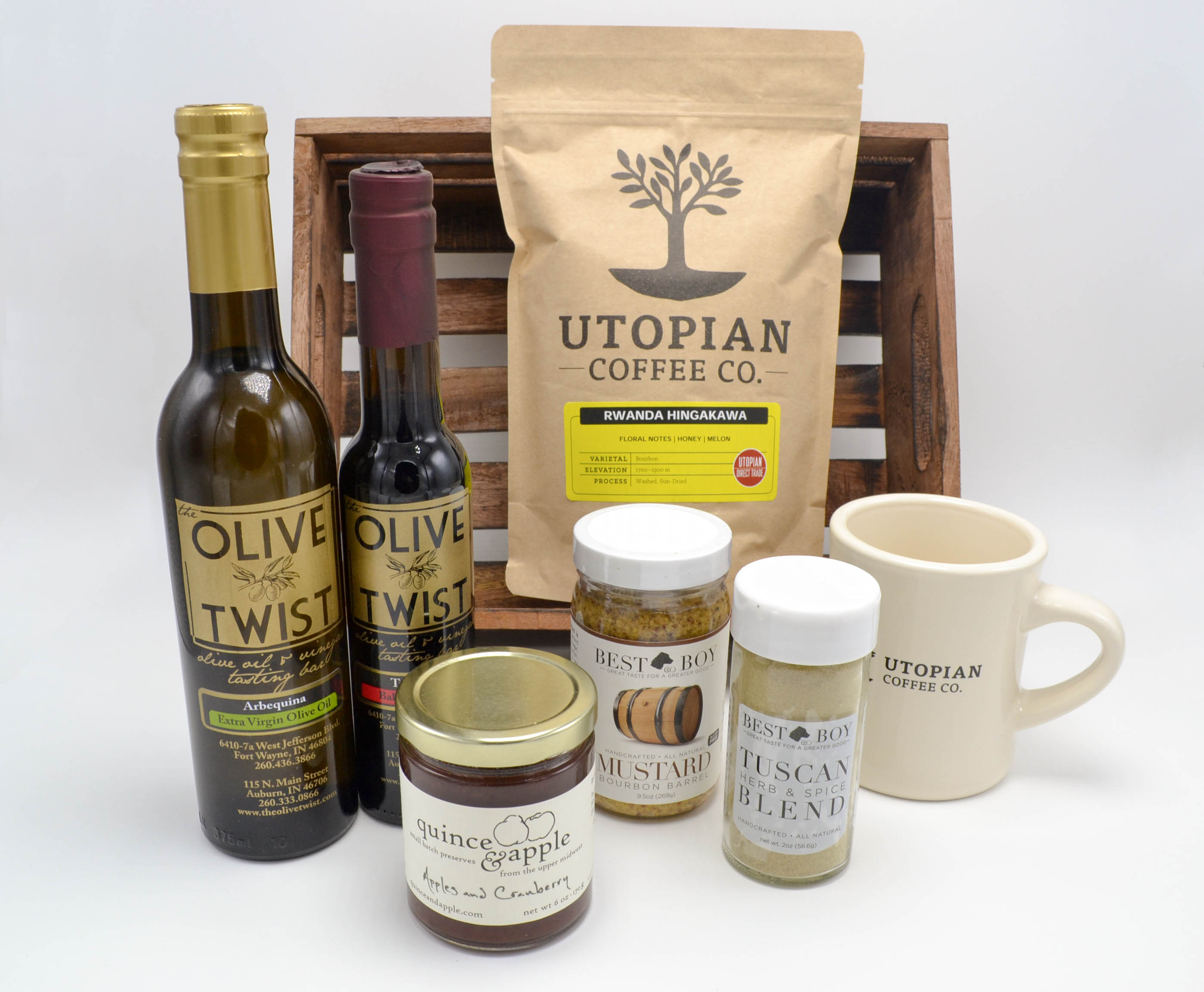 The Epicurean gift. (An example of a custom-curated gift.)
